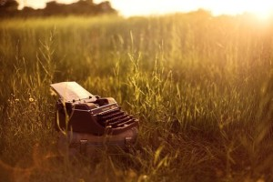 typewriter in field copy