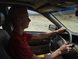 Micah driving