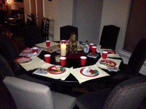 Evacuated table