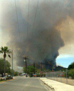 Fire in Porve