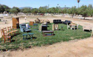 Furniture on grass