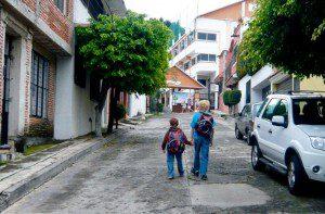 Walk to language school