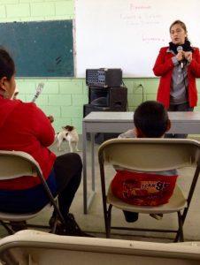 Dog in school meeting