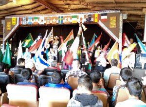 Flags at church
