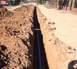 Water pipes in street